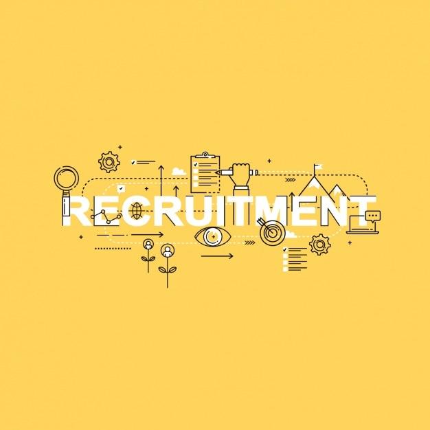 Recruitment hintergrund-design Kostenlosen Vektoren