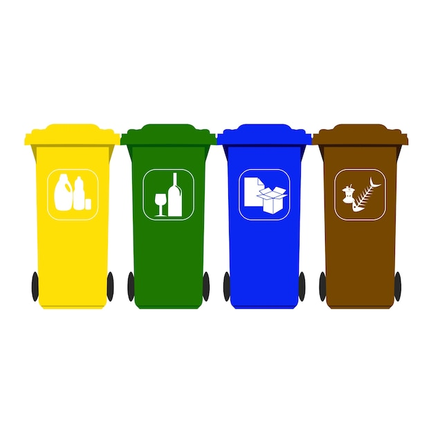 Recycling Mülleimer recycling mülleimer der premium vektor
