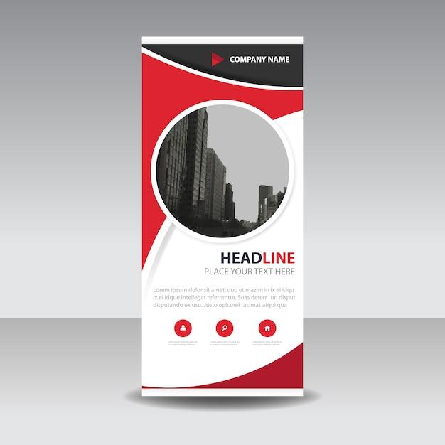 Red Circle Creative Roll up Banner Vorlage | Download der ...