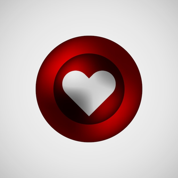 Red love bubble badge Premium Vektoren