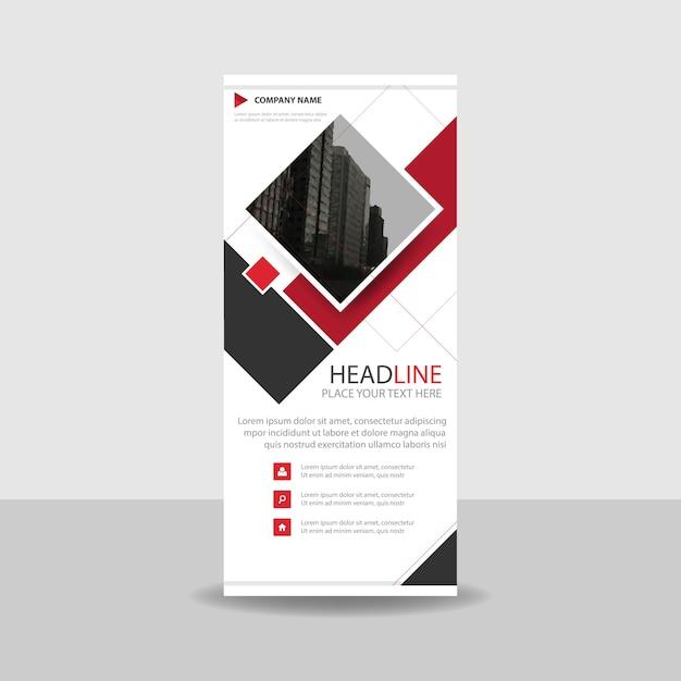 Red Square Creative Roll up Banner Vorlage | Download der ...