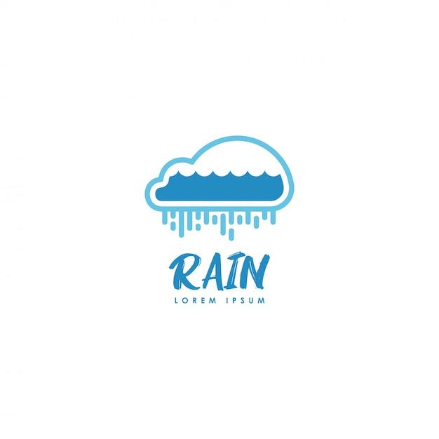 Regen-logo Premium Vektoren