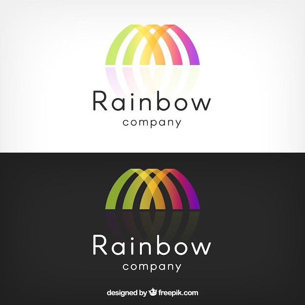 Regenbogen-logo Kostenlosen Vektoren