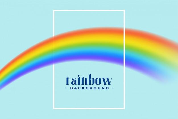 Regenbogen mit textplatz und -feld Kostenlosen Vektoren
