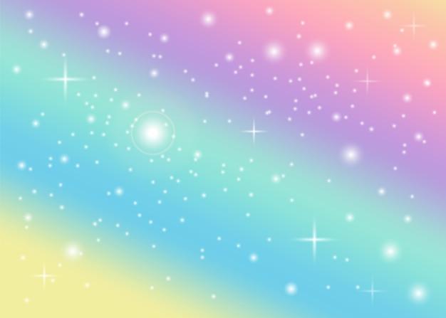 Regenbogen pastell hintergrund Premium Vektoren