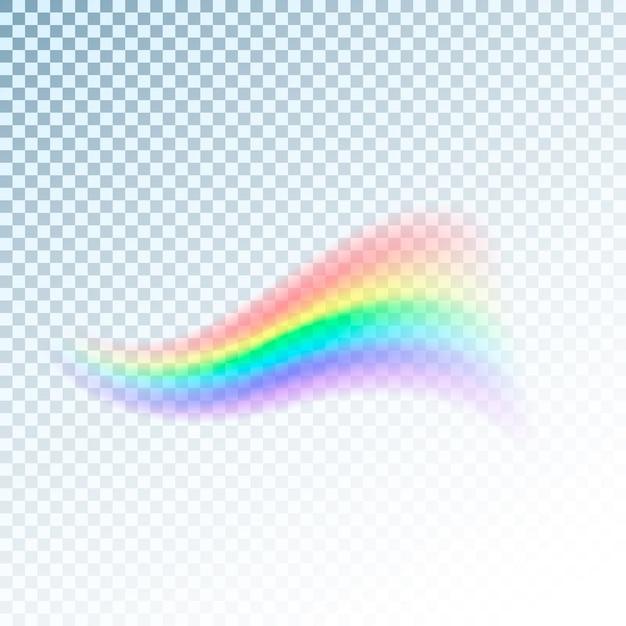 Regenbogenikone. abstraktes buntes lichtspektrum. illustration auf transparentem hintergrund Premium Vektoren