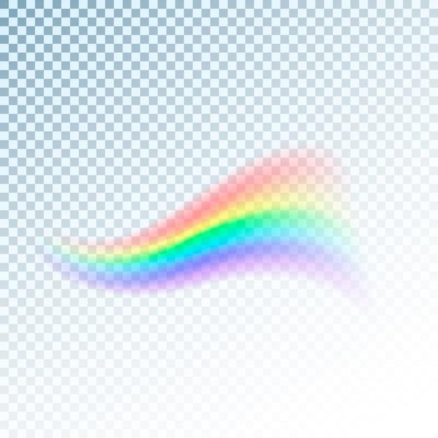 Regenbogenikone. abstraktes buntes lichtspektrum lokalisiert auf transparentem hintergrund Premium Vektoren