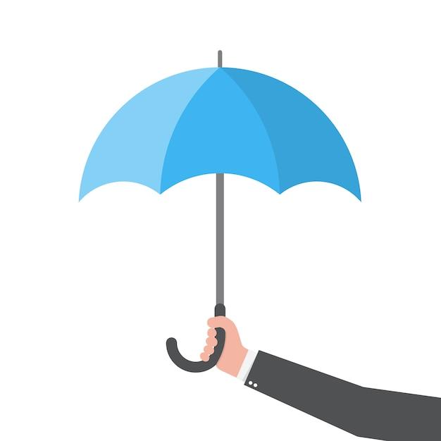 Regenschirm in der hand. illustration Premium Vektoren