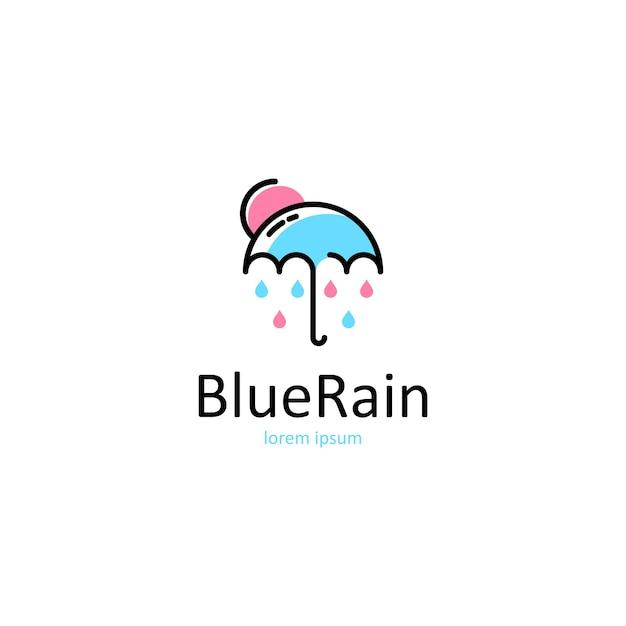 Regenschirm-logo Premium Vektoren