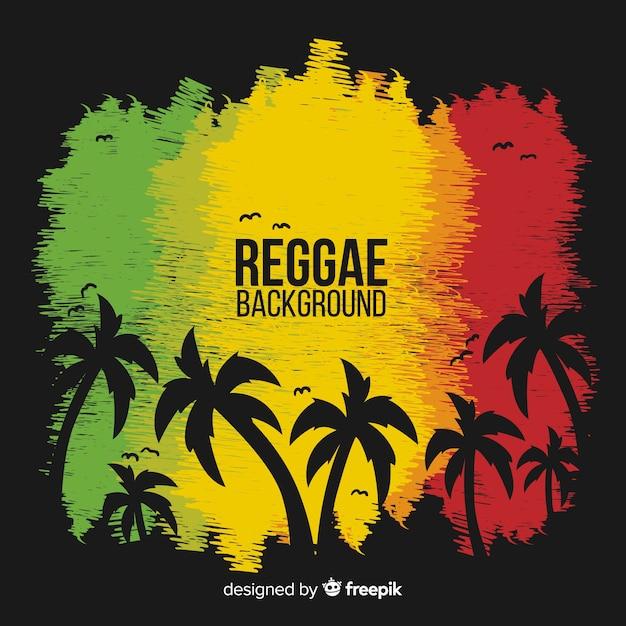 Reggae-stil hintergrund Kostenlosen Vektoren