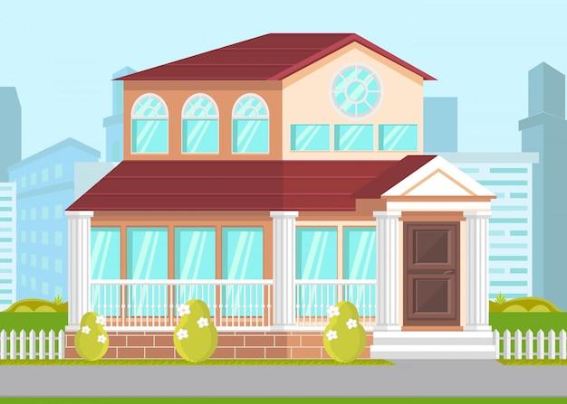 Regierungsgebäude fassade Premium Vektoren