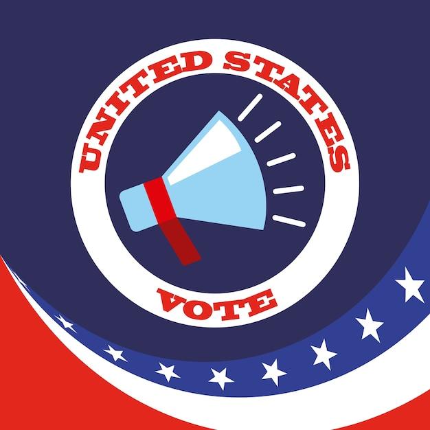 Regierungswahlen design Premium Vektoren