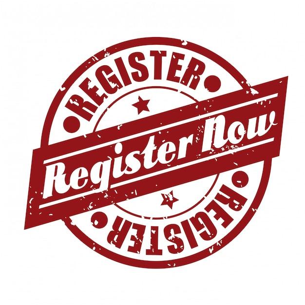 Register button design Premium Vektoren
