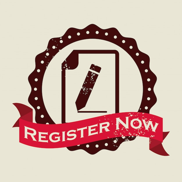 Register button design Premium Vektoren