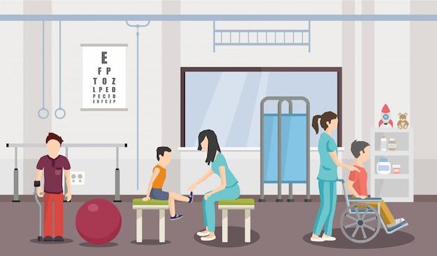 Rehabilitationszentrum für kinder Premium Vektoren