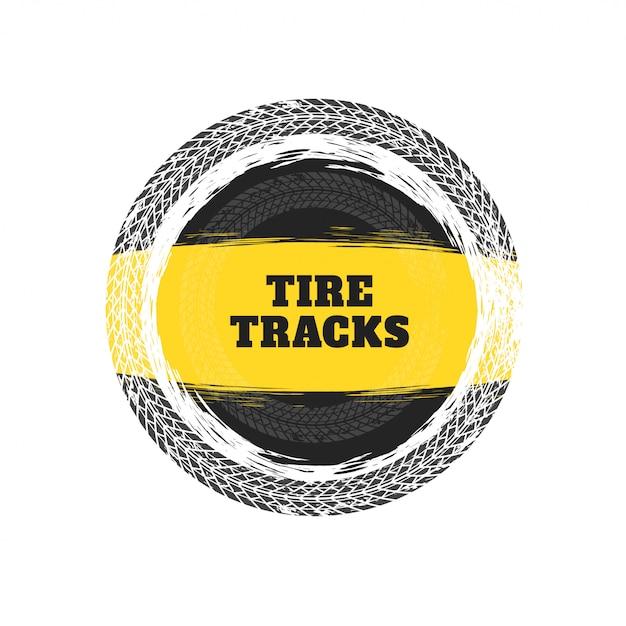 Reifen verfolgt kreisrahmenhintergrund Kostenlosen Vektoren