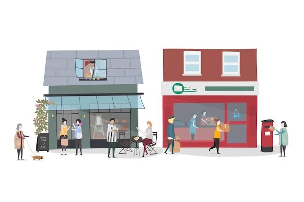 Reihe von illustrierten menschen Kostenlosen Vektoren
