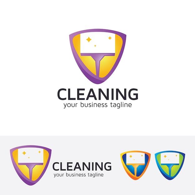 Reinigung von Vektor-Logo-Vorlage | Download der Premium Vektor