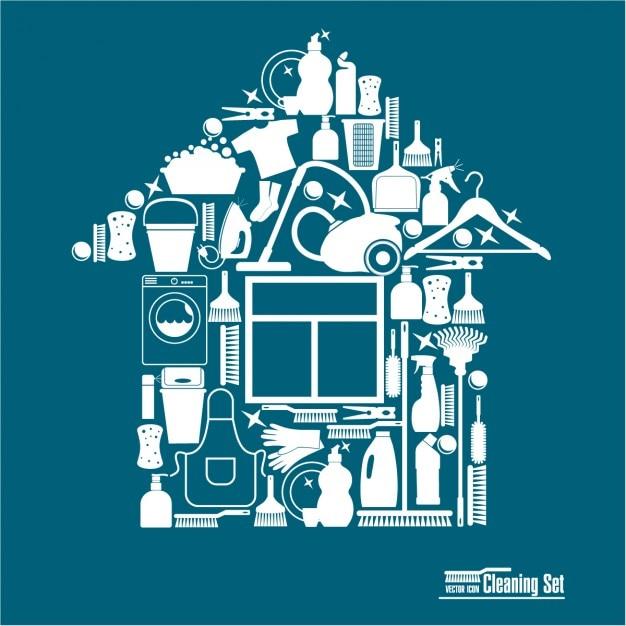 Reinigungs illustration für reinigung Kostenlosen Vektoren
