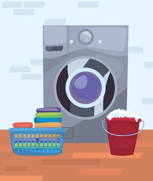 Reinigungsmittel und zubehör Premium Vektoren