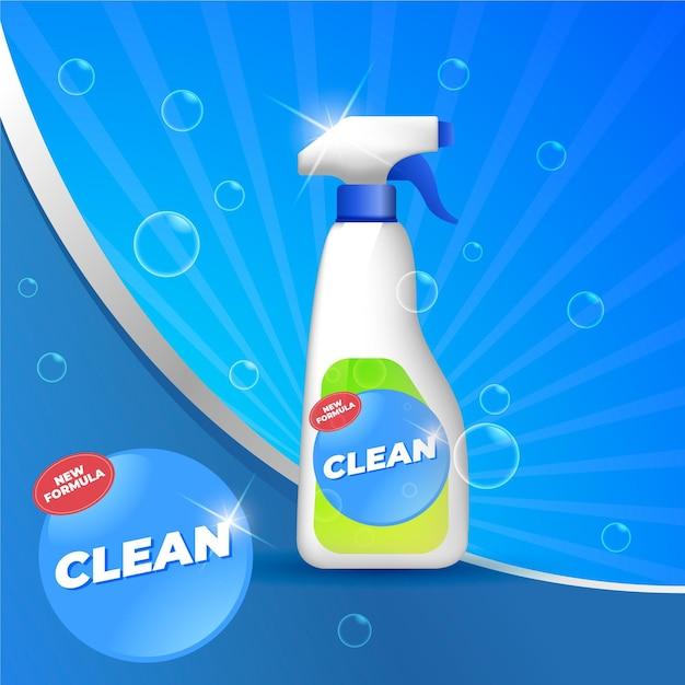Reinigungsprodukte ad Kostenlosen Vektoren