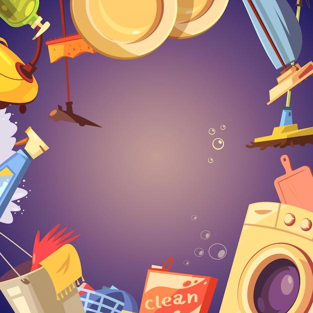 Reinigungsservice-hintergrund Kostenlosen Vektoren