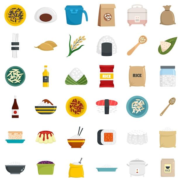 Reis icons set Premium Vektoren