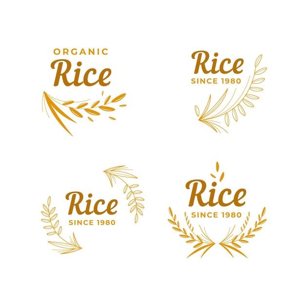 Reis-logo-sammlung Premium Vektoren