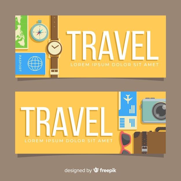 Reise-banner Kostenlosen Vektoren
