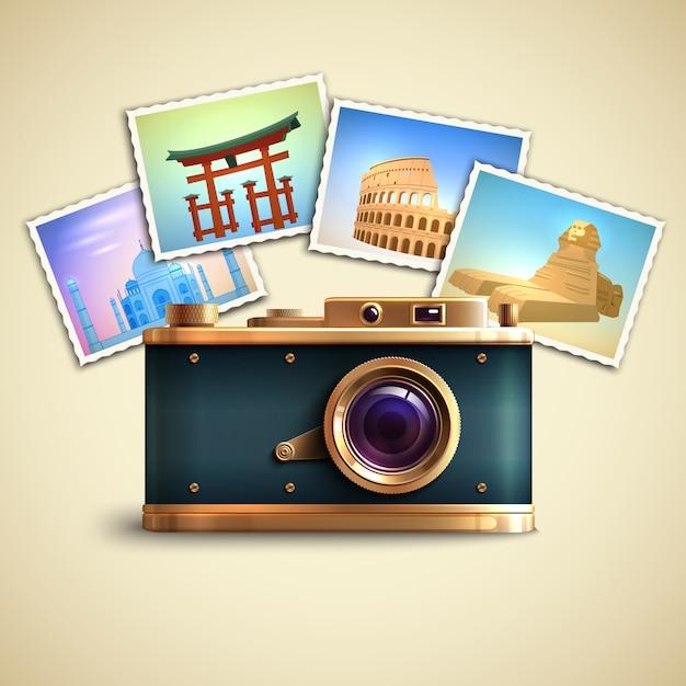 Reise-foto-hintergrund Kostenlosen Vektoren