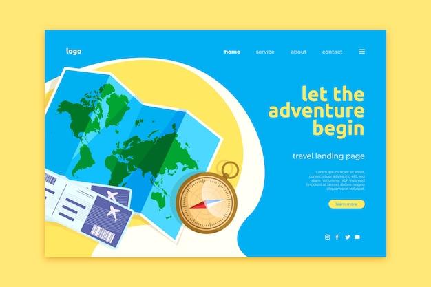 Reise-landing-page-vorlage Kostenlosen Vektoren