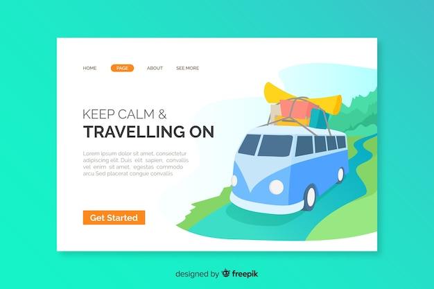 Reise-landingpage abgebildet Kostenlosen Vektoren