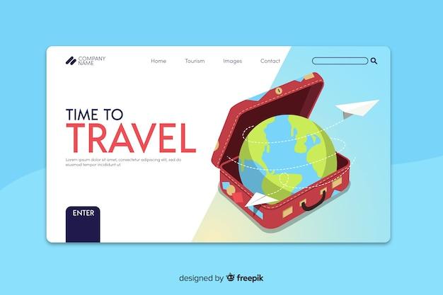 Reise-landingpage-vorlage Kostenlosen Vektoren
