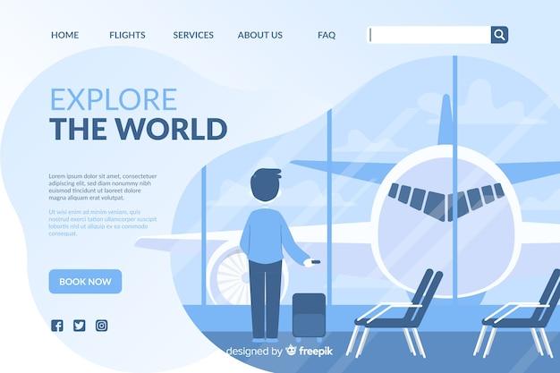 Reise-landingpage Kostenlosen Vektoren