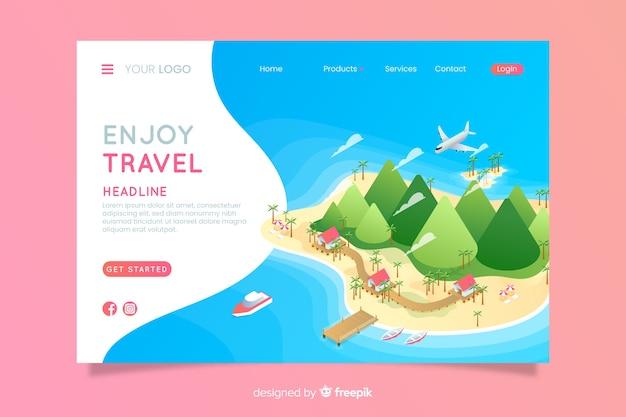Reise-landingpage Premium Vektoren
