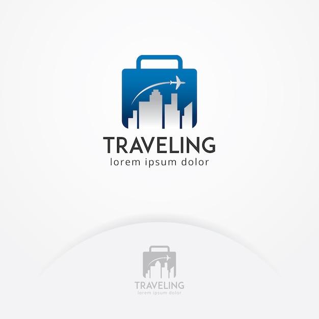 Reise-logo Premium Vektoren