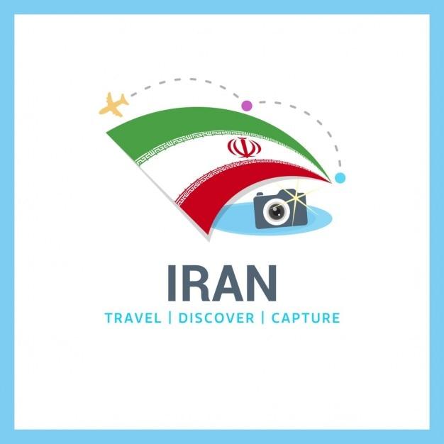 Reise nach iran-logo Kostenlosen Vektoren
