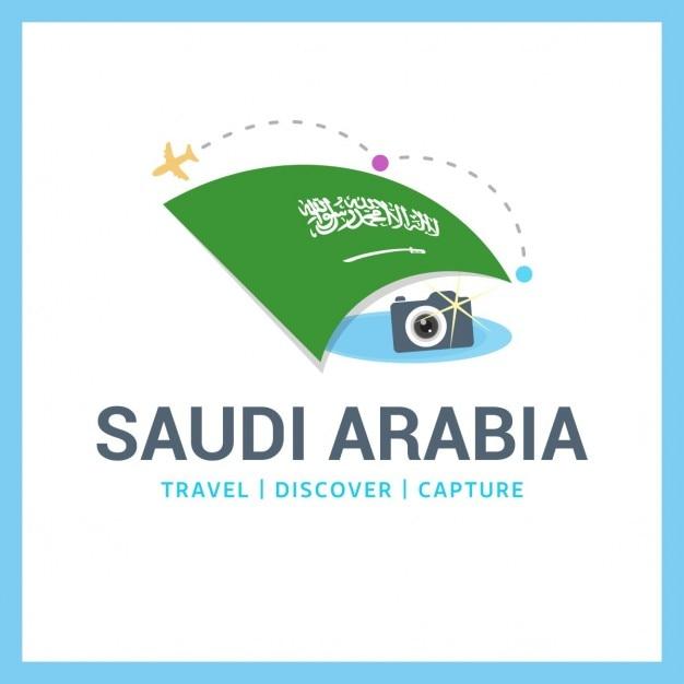 Reise nach saudi-arabien logo Kostenlosen Vektoren
