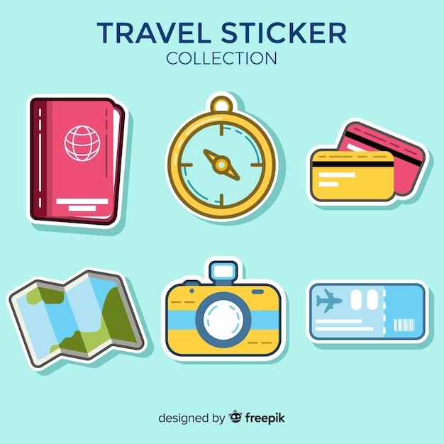 Reiseaufkleber-sammlung Kostenlosen Vektoren
