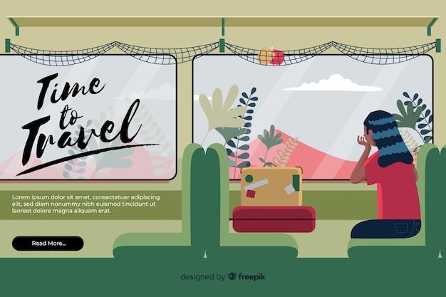 Reisebanner mit flachem design Kostenlosen Vektoren