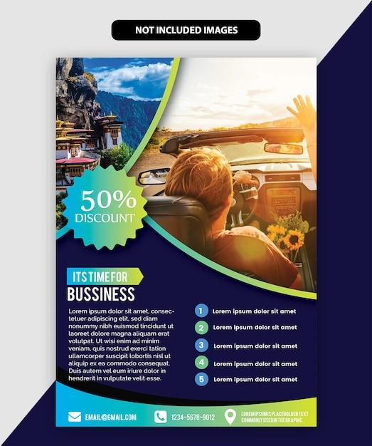 Reisebroschüre Premium Vektoren