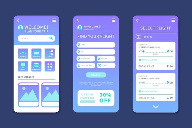 Reisebuchungs-app Kostenlosen Vektoren