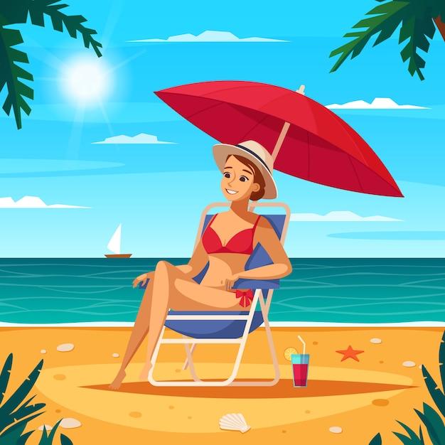 Reisebüro-karikatur-plakat Kostenlosen Vektoren