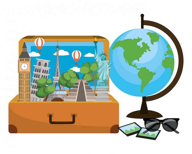 Reisegepäck-cartoon Premium Vektoren