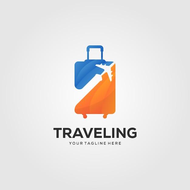 Reisekoffer-logo Premium Vektoren