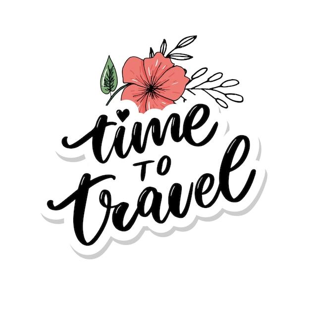 Reiselebensstilinspiration zitiert beschriftung Premium Vektoren