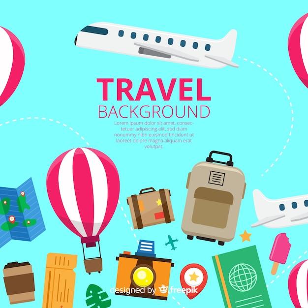 Reisematerial hintergrund Kostenlosen Vektoren