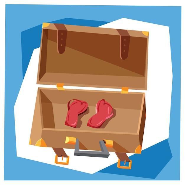 Reisen cartoon-objekte vektor-illustration für design Premium Vektoren