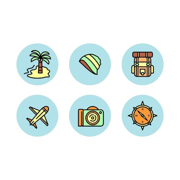 Reisen icon-set Premium Vektoren