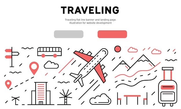 Reisen infographik Premium Vektoren